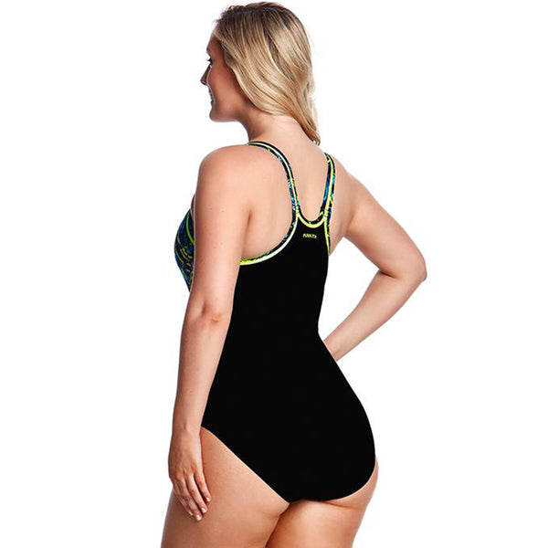 Funkita - Midnight Marble - Ladies Locked In Lucy One Piece