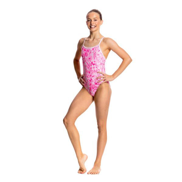 Funkita - Novel Floral - Girls Single Strap One Piece
