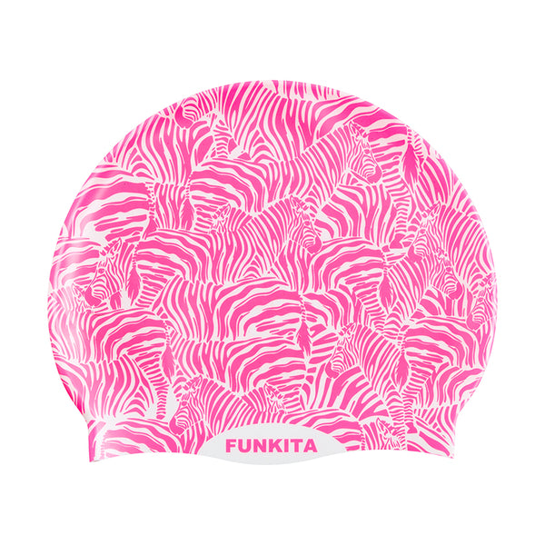 Funkita - Painted Pink - Silicone Swimming Cap