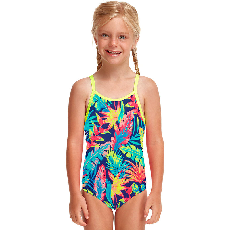 Funkita - Palm Off - Toddler Girls Eco Printed One Piece