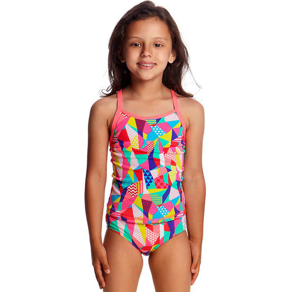 Funkita - Pastel Patch - Toddlers Girls Tankini Two Piece