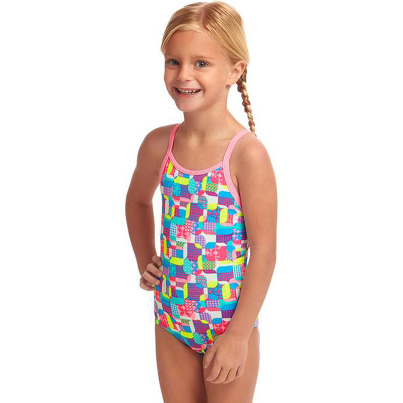 Funkita - Patched Up - Toddler Girl's Printed One Piece