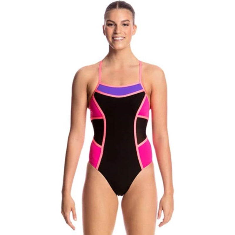 Funkita - Pink Shadow - Ladies Colour Block One Piece