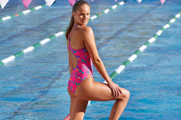 Funkita - Pinky Palm - Ladies Eco Diamond Back One Piece