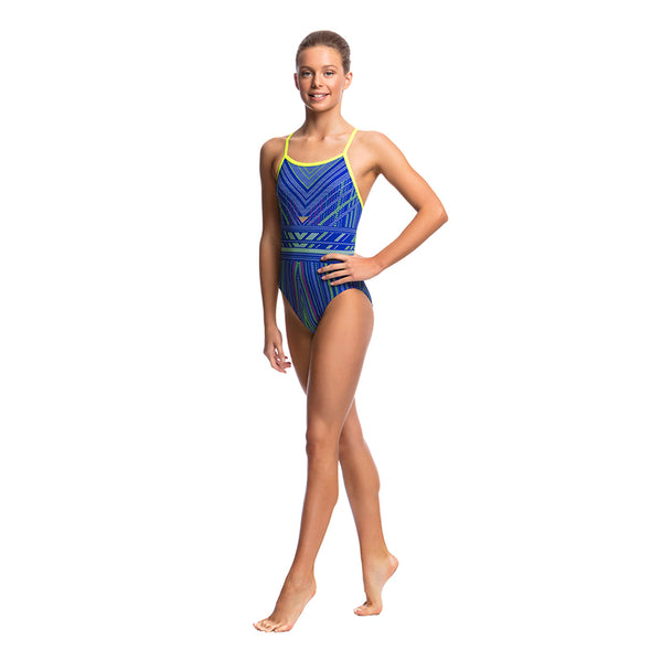 Funkita - Quick Stitch - Girls Single Strap One Piece