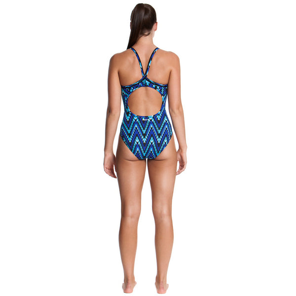 Funkita - Razor Blast - Ladies Diamond Back One Piece