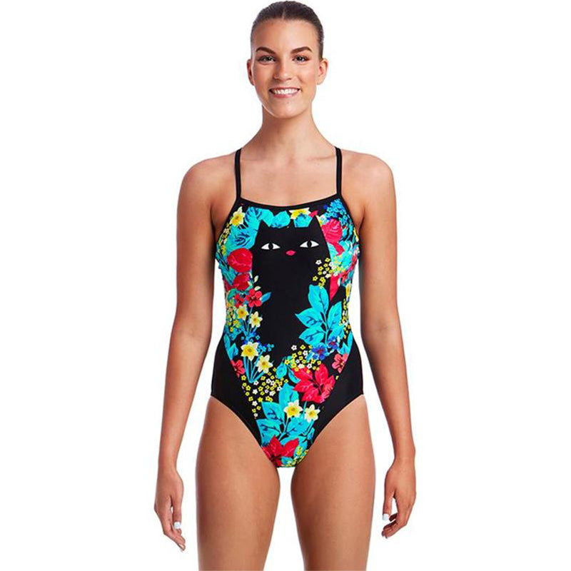 Funkita - Scaredy Cat - Ladies Single Strap One Piece