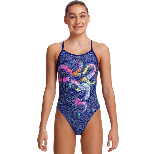 Funkita - Snake It Off - Girls Single Strap One Piece