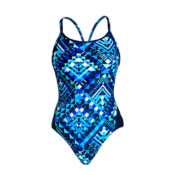 Funkita - Speed Boxer - Ladies Diamond Back One Piece