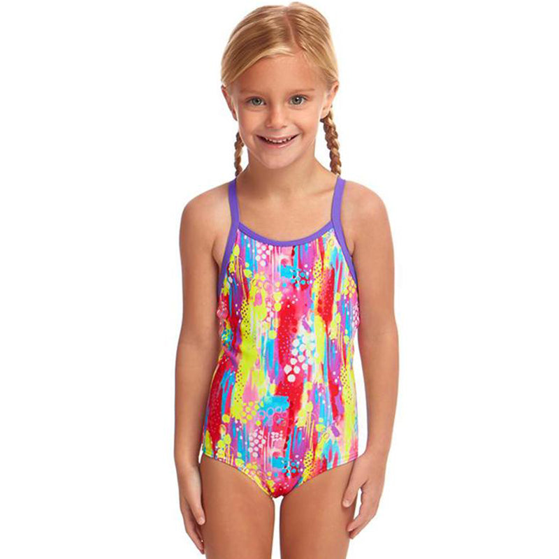 Funkita - Splat Stat - Toddler Girls Printed One Piece