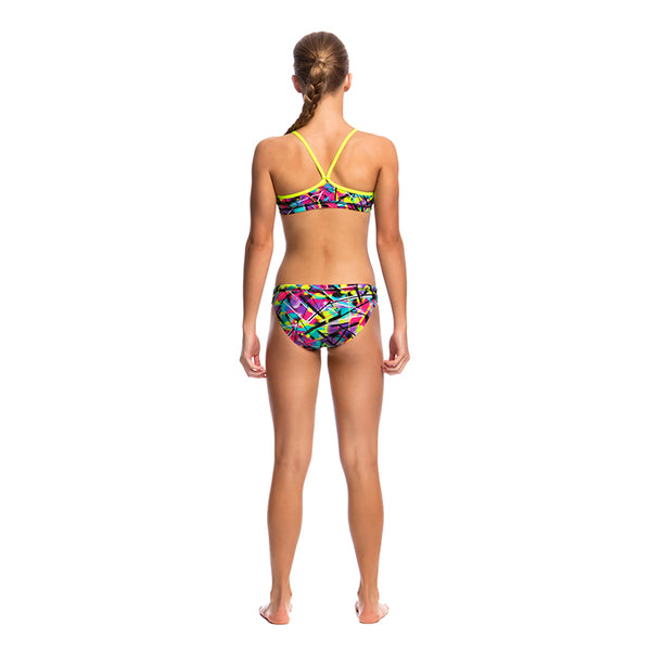 Funkita - Spray On - Girls Racerback Two Piece