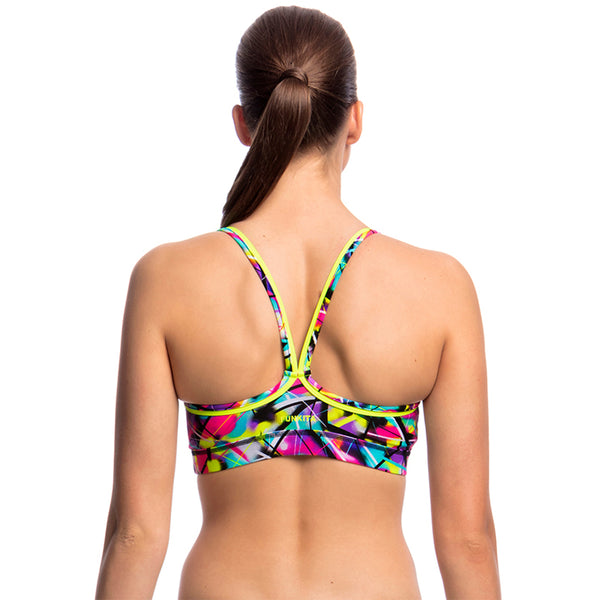 Funkita - Spray On - Ladies Bikini Sports Top