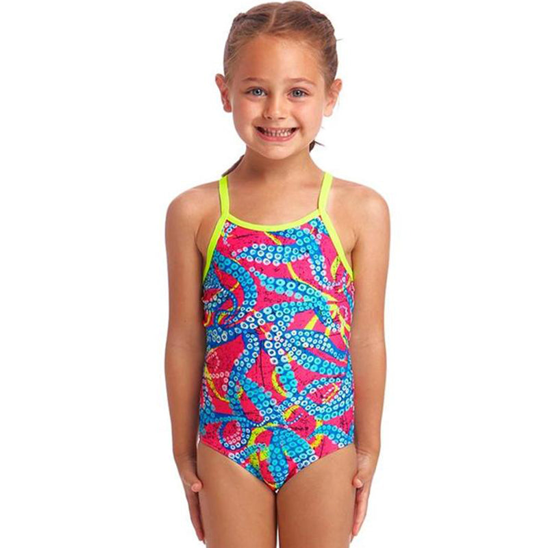 Funkita - Squeaky Squid - Toddler Girls Eco One Piece