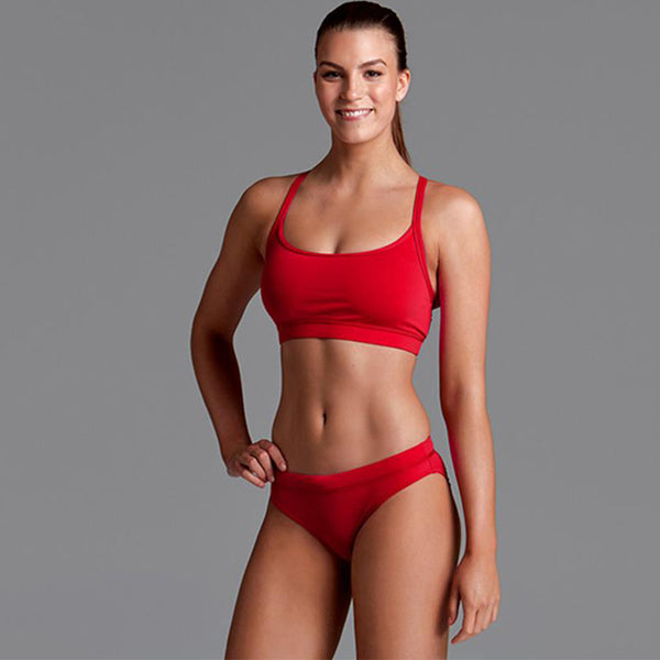 Funkita - Still Red - Ladies Bikini Sports Brief