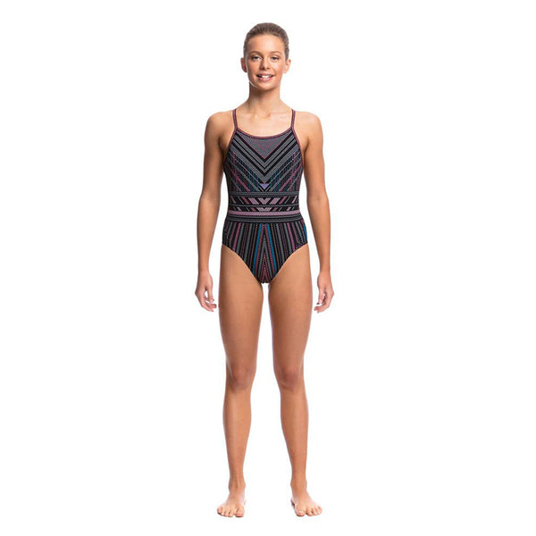 Funkita - Stitched Up - Girls Diamond Back One Piece