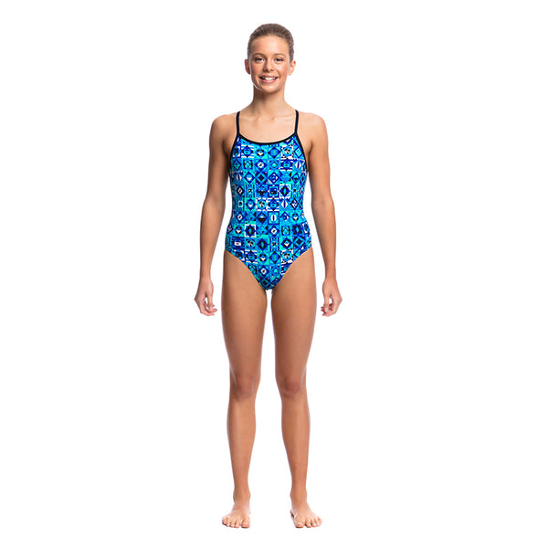 Funkita - Strike It Lucky - Girls Diamond Back One Piece