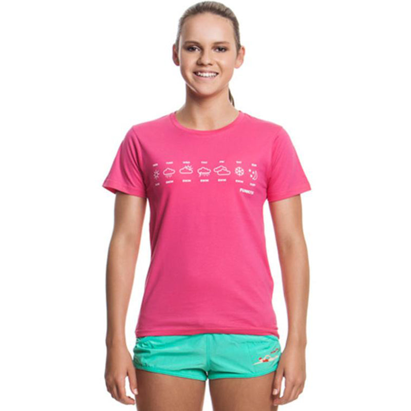 Funkita - Swimmer's Life - Girls Crew Neck T-Shirt Pink