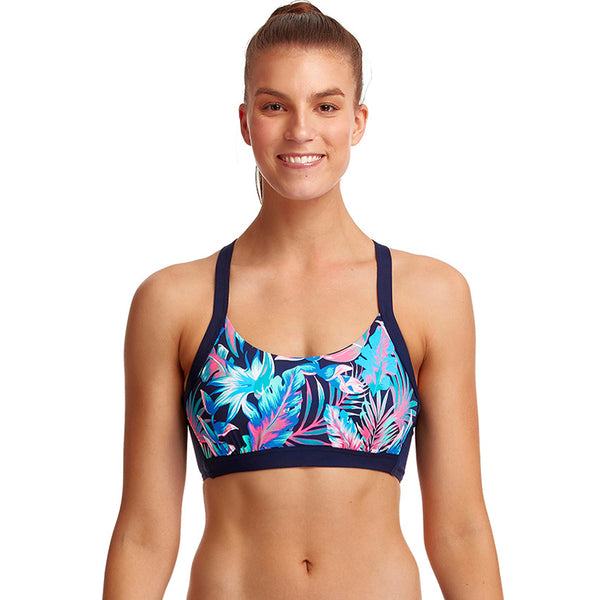 Funkita - Tropical Bliss - Ladies Hold Steady Crop Top