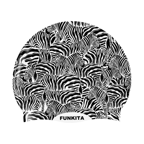 Funkita - Zebra Crossing - Silicone Swimming Cap