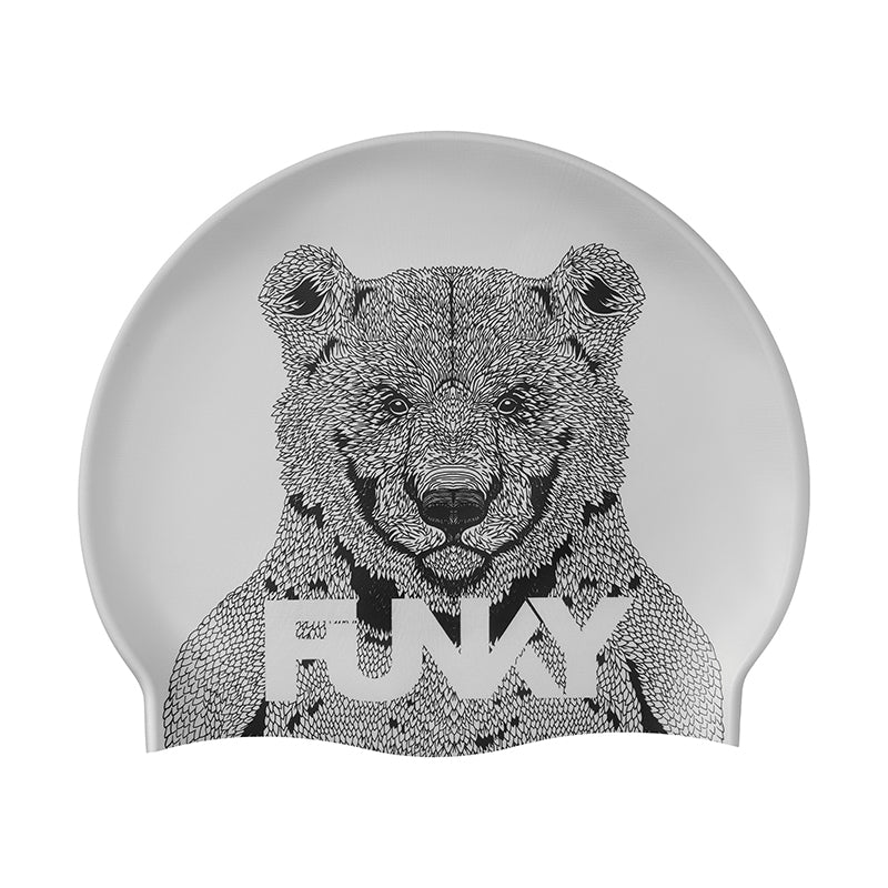 Funky - Bear Bum Silicone Swimming Cap