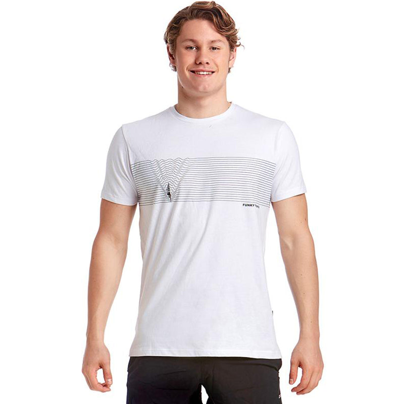 Funky Trunks - Black Line Mens T-Shirt