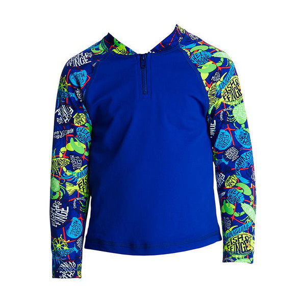 Funky Trunks - Catch Of The Day Toddler Boys Zippy Rash Vest