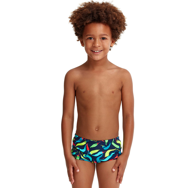 Funky Trunks - Chilli Boss - Toddler Boys Eco Printed Trunks