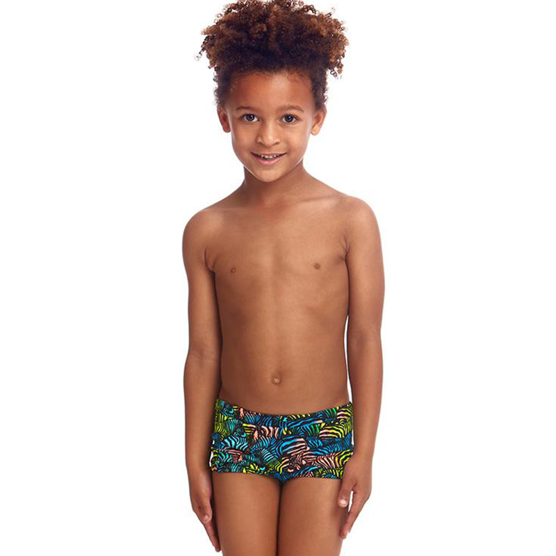 Funky Trunks - Colour Run - Toddler Boys Eco Square Trunks