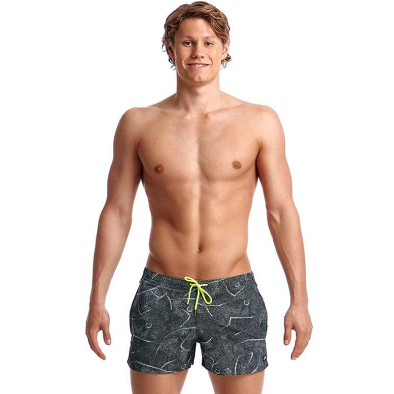 Funky Trunks - Crack Up Mens Shorty Shorts Short