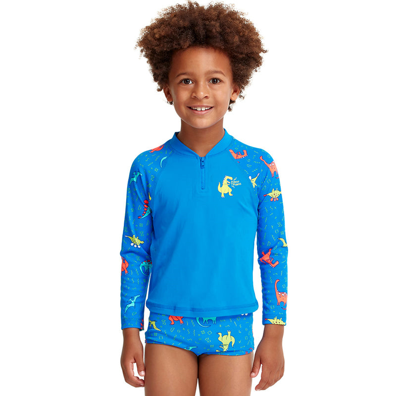 Funky Trunks - Dino Soup - Toddler Boys Zippy Rash Vest