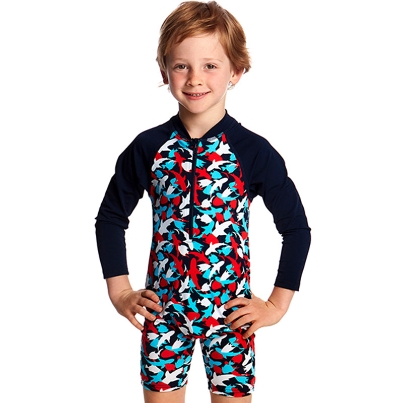 Funky Trunks -  Feeding Frenzy Toddlers Go Jump Suit