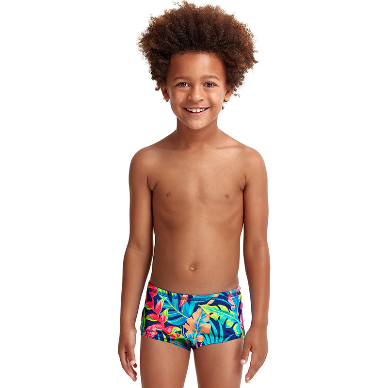 Funky Trunks - Palm Off - Toddler Boys Eco Printed Trunks