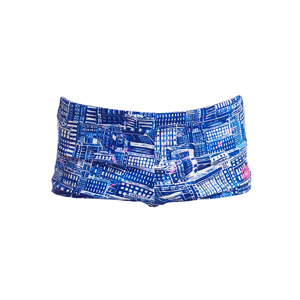 Funky Trunks - Sky City - Toddler Boy's Square Trunks