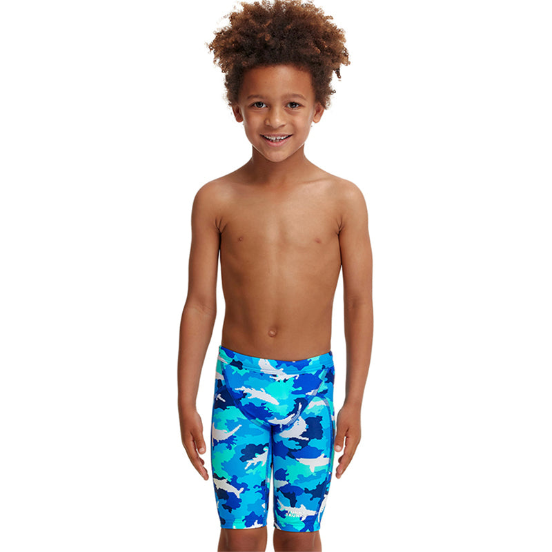 Funky Trunks - White Pointer - Toddler Boys Miniman Jammers