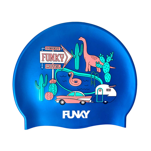 Funky - Wacky West Silicone Swimming Cap