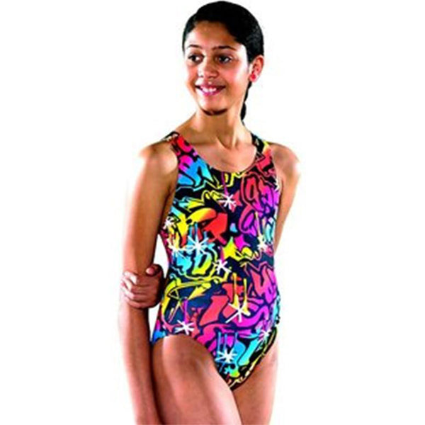 Maru - Bizzle Pacer Auto Back Girls One Piece Swimsuit