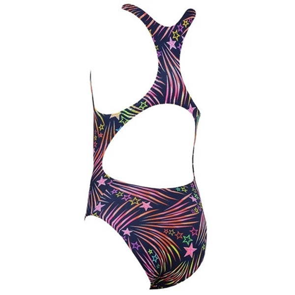 Maru - Boom Pacer Rave Back Girls Swimsuit - Navy/Pink