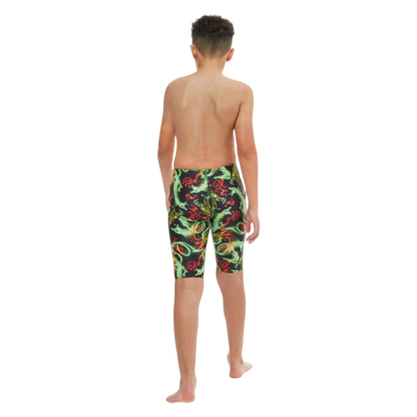 Maru - Boys Fire Dragon Pacer Jammer - Black/Green