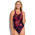 Maru - Carousel Zone Back Ladies Swimsuit - Navy/Pink - Aqua Swim Supplies