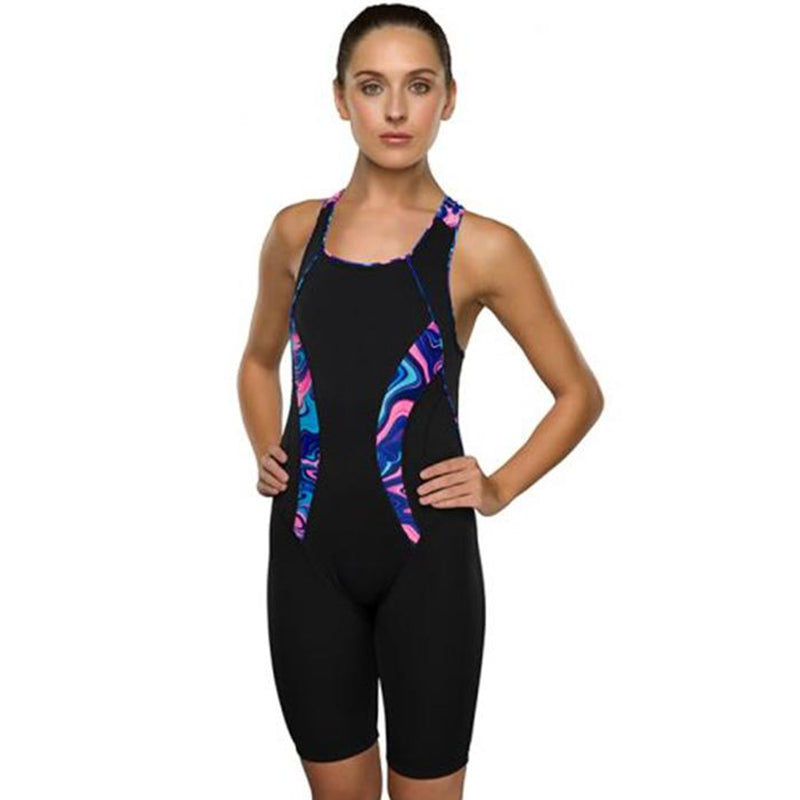 Maru Ladies Swimwear - Galaxy Swirl Pacer Panel Legsuit