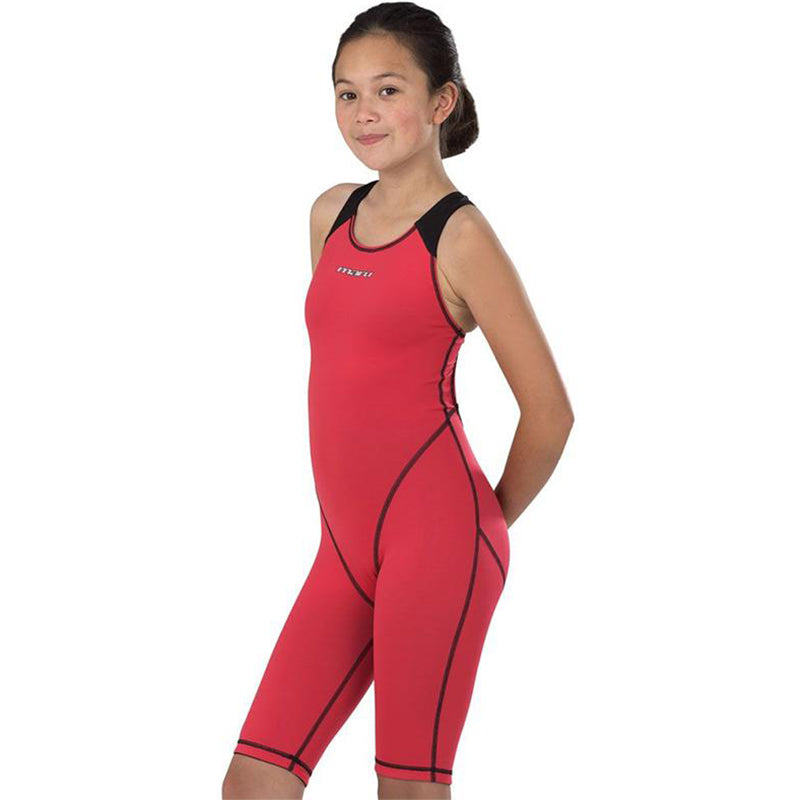 Maru Girls Competition Swimwear - XT3 Junior Pro Legs - Coral and Black