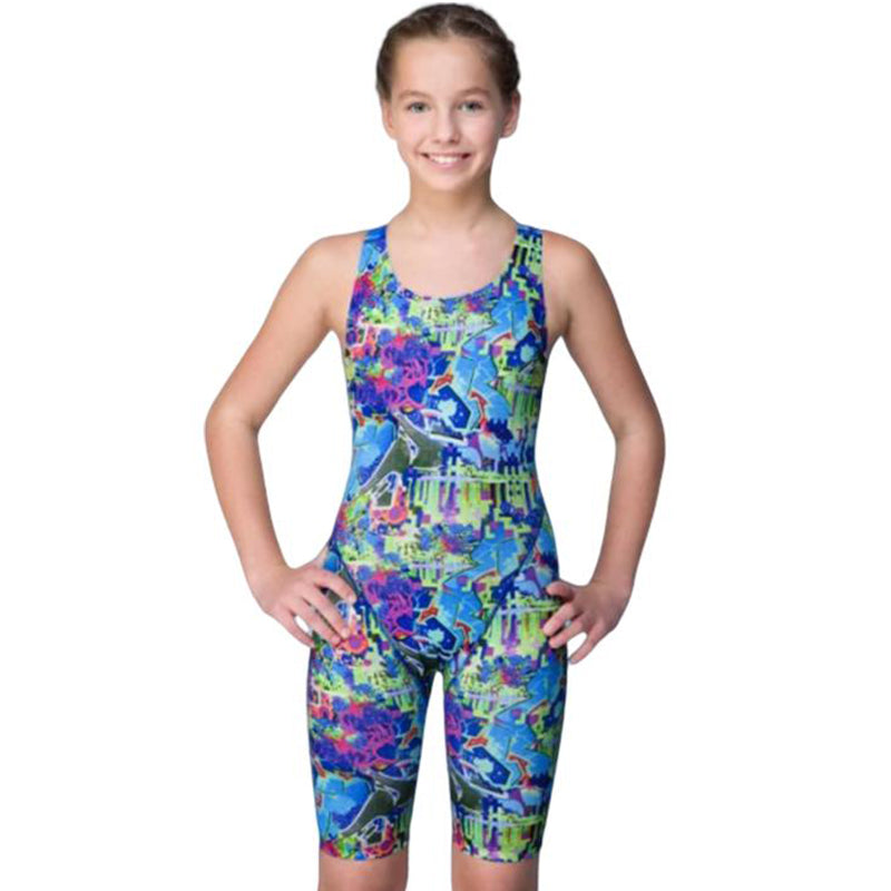 Maru Girls Swimwear - Graffiti Sky Pacer Leg Suit