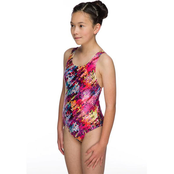 Maru - Starflight Sparkle Apollo Back Girls Swimsuit - Pink