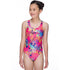 Maru - Wizzy Sparkle Rave Back Girls Swimsuit - Pink/Silver