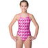 Maru - Hearts Sparkle Aero Back Girls Swimsuit - Pink