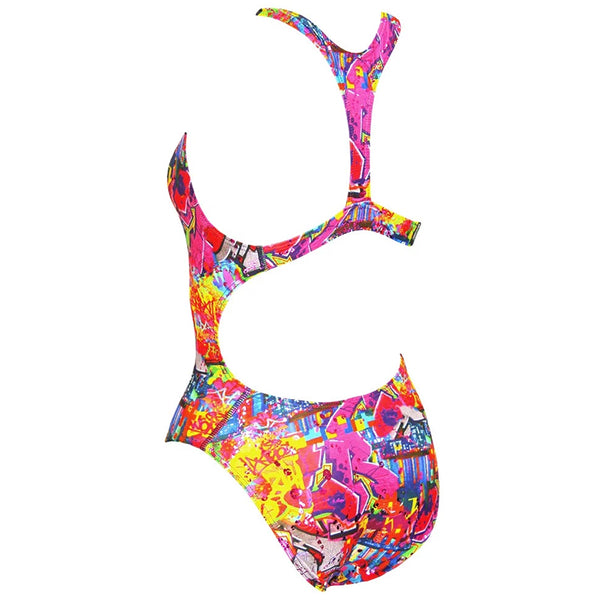 Maru - Graffiti Sky Sparkle Boogie Back Ladies Swimsuit