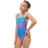 Maru - Line Up Pacer Auto Back Girls Swimsuit - Blue/Pink