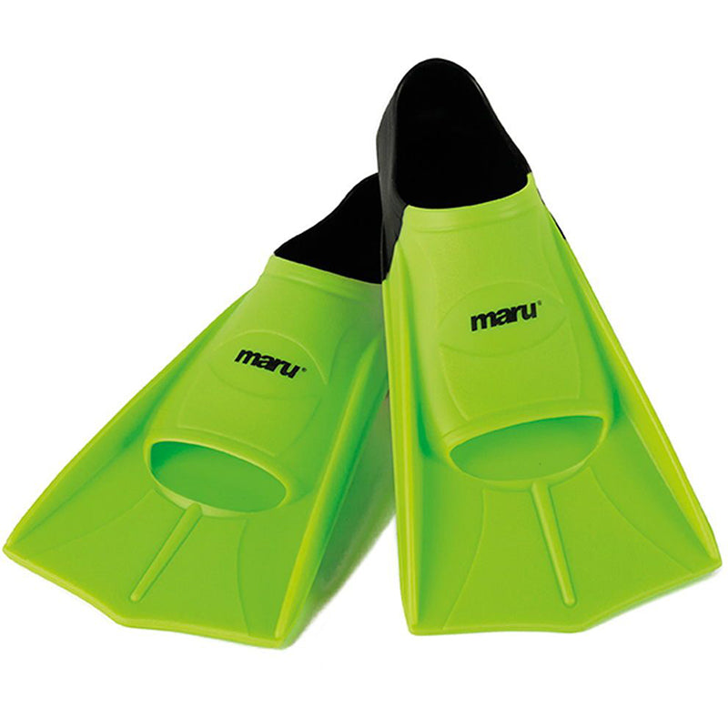 "Maru - ""New"" Training Fins / Flippers - Neon Lime/Black"