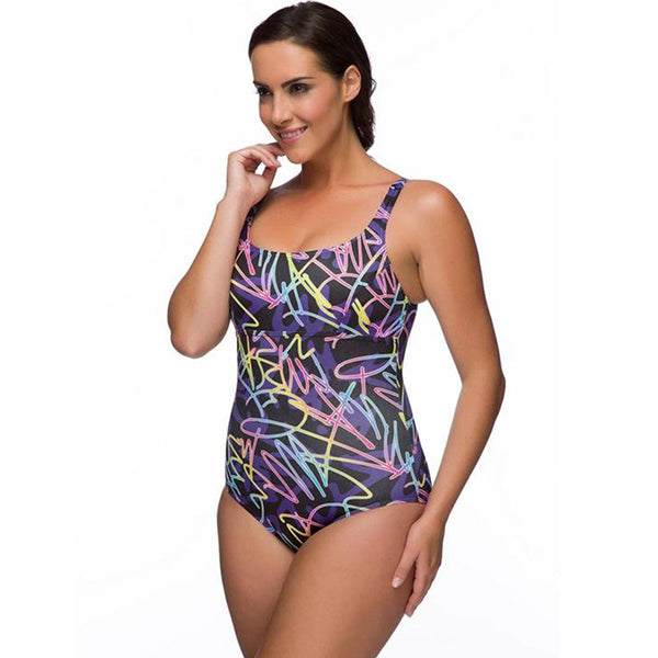 Maru - Onyx Pacer Cruz Ladies Swimsuit - Black/Multi