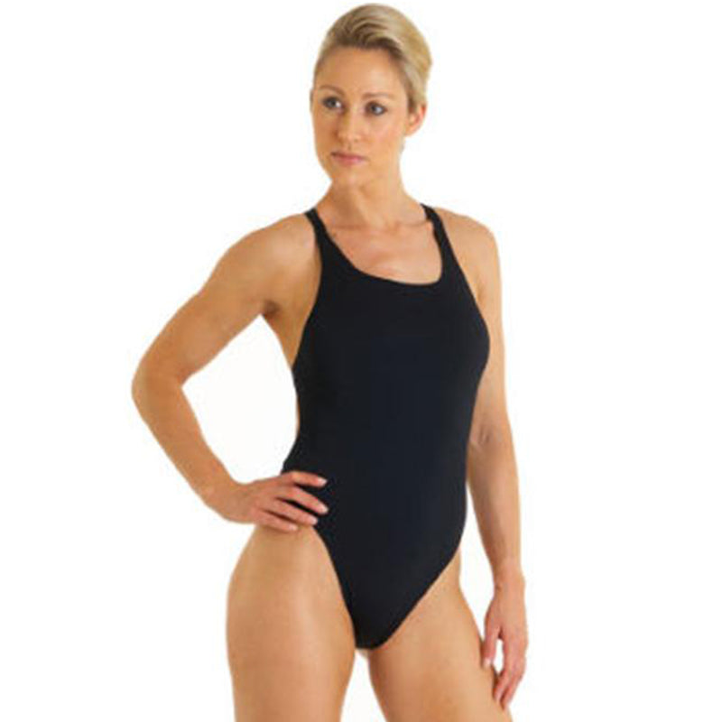 Maru - Solid Pacer Boogie Back Ladies Swimsuit - Black